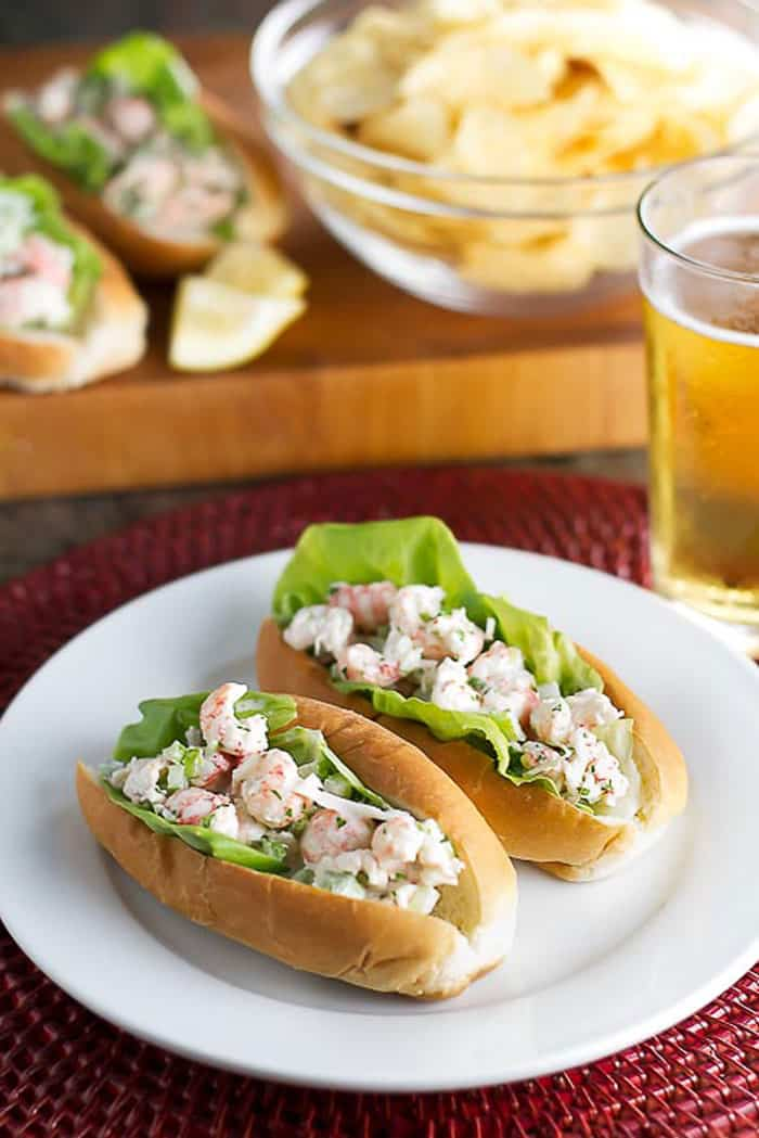 Lobster Salad Sandwiches | girlgonegourmet.com