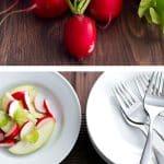Radish and Green Apple Salad photo collage
