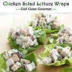 chicken salad lettuce wraps photo collage