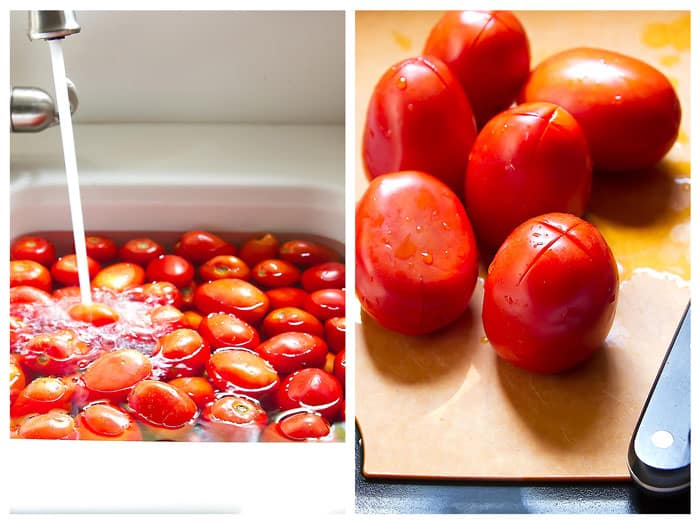 how to prep the tomatoes for the sauce step by step photos