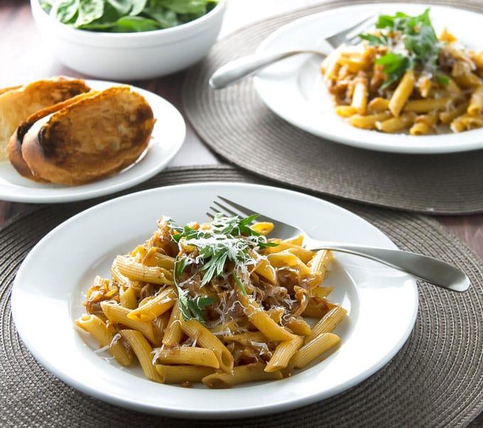 Caramelized Onion Pasta | girlgonegourmet.com