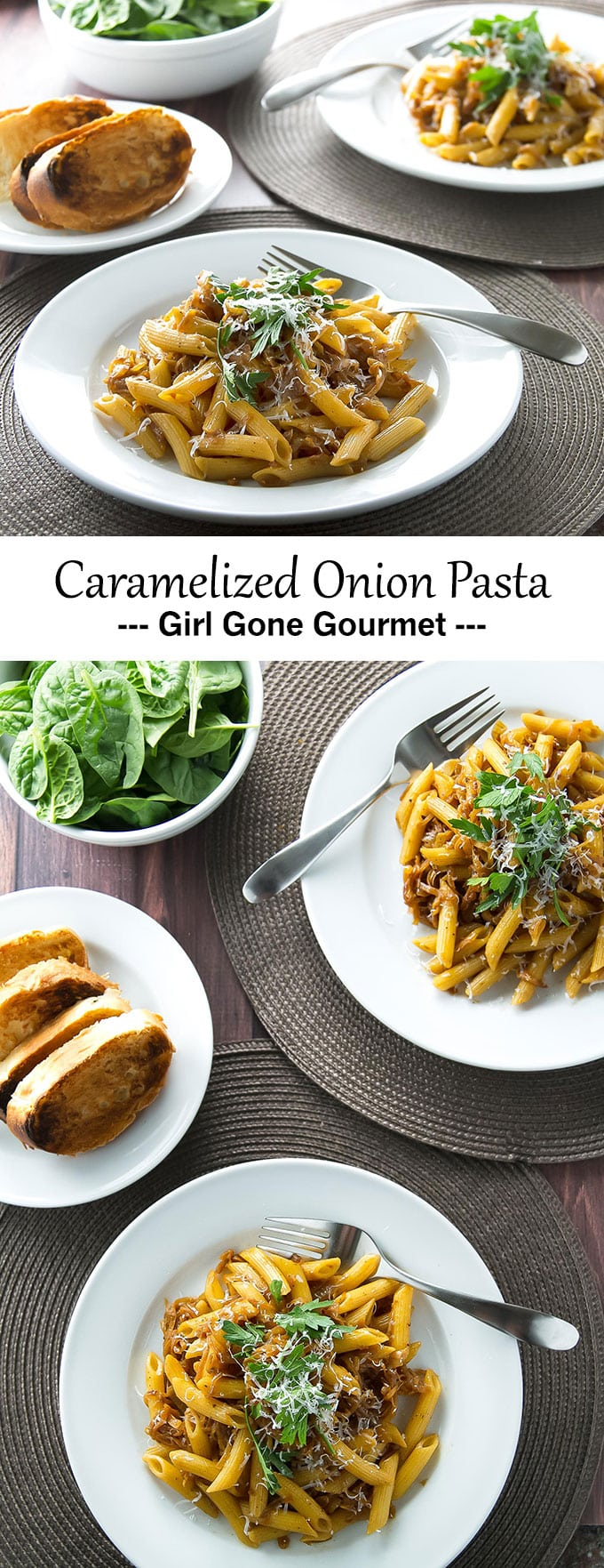 French onion soup meets pasta in this rich and savory dish! | girlgonegourmet.com