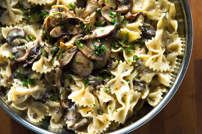 A rich and creamy mushroom pasta - only takes 30 minutes! | girlgonegourmet.com