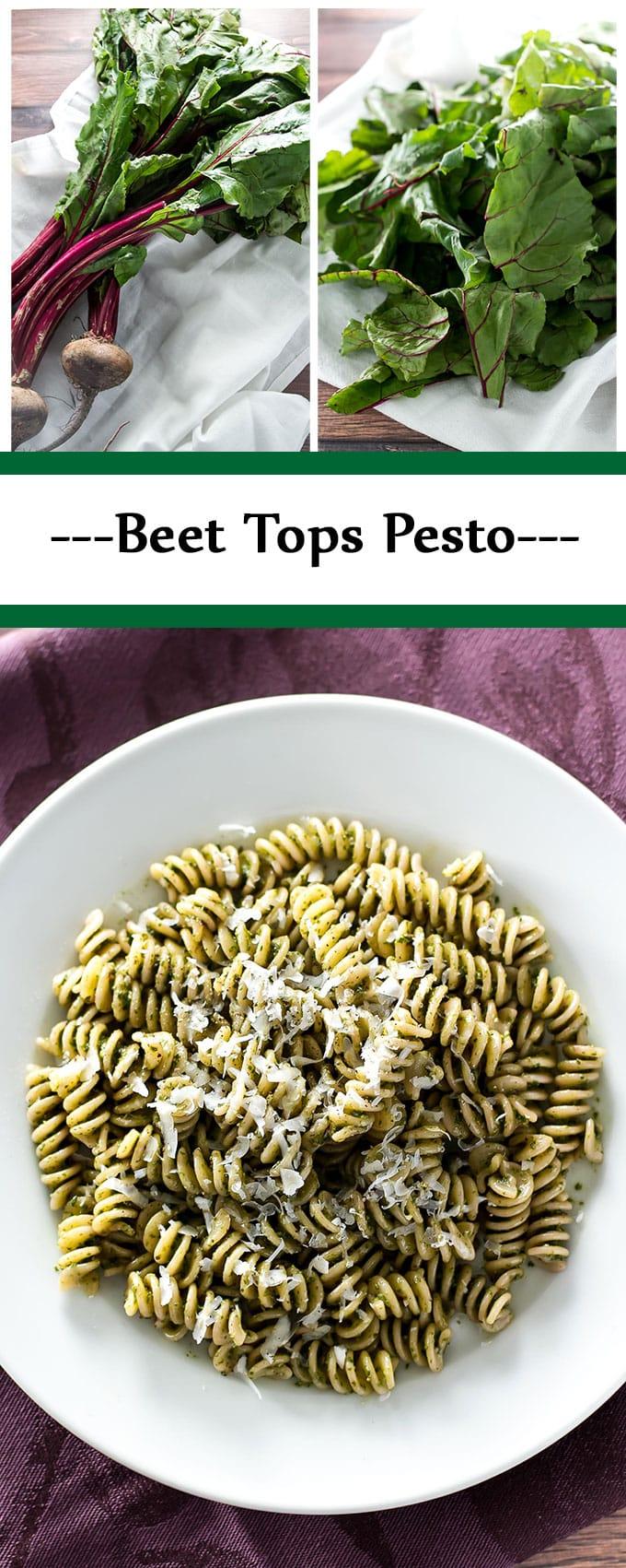 Got beets? Save those greens and make pesto! | girlgonegourmet.com