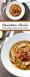 Warm and cozy chicken chili | girlgonegourmet.com
