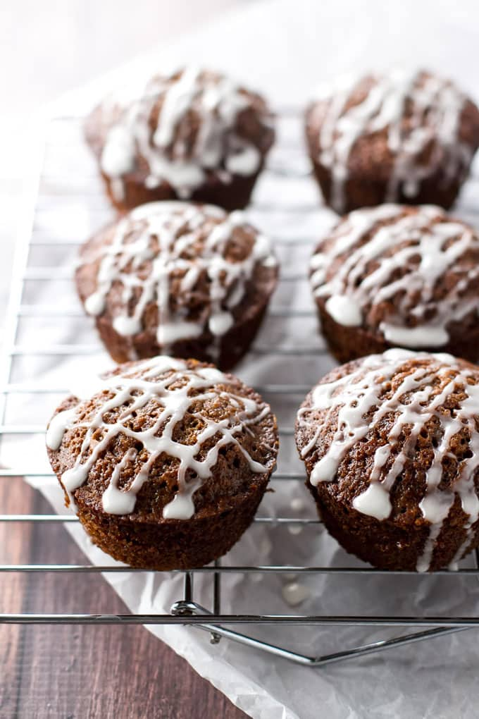 close-up photo of muffins