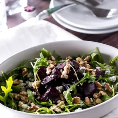 Roasted Beet Salad with Walnuts
