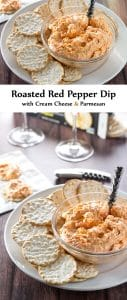 Quick and easy roasted red pepper dip | girlgonegourmet.com