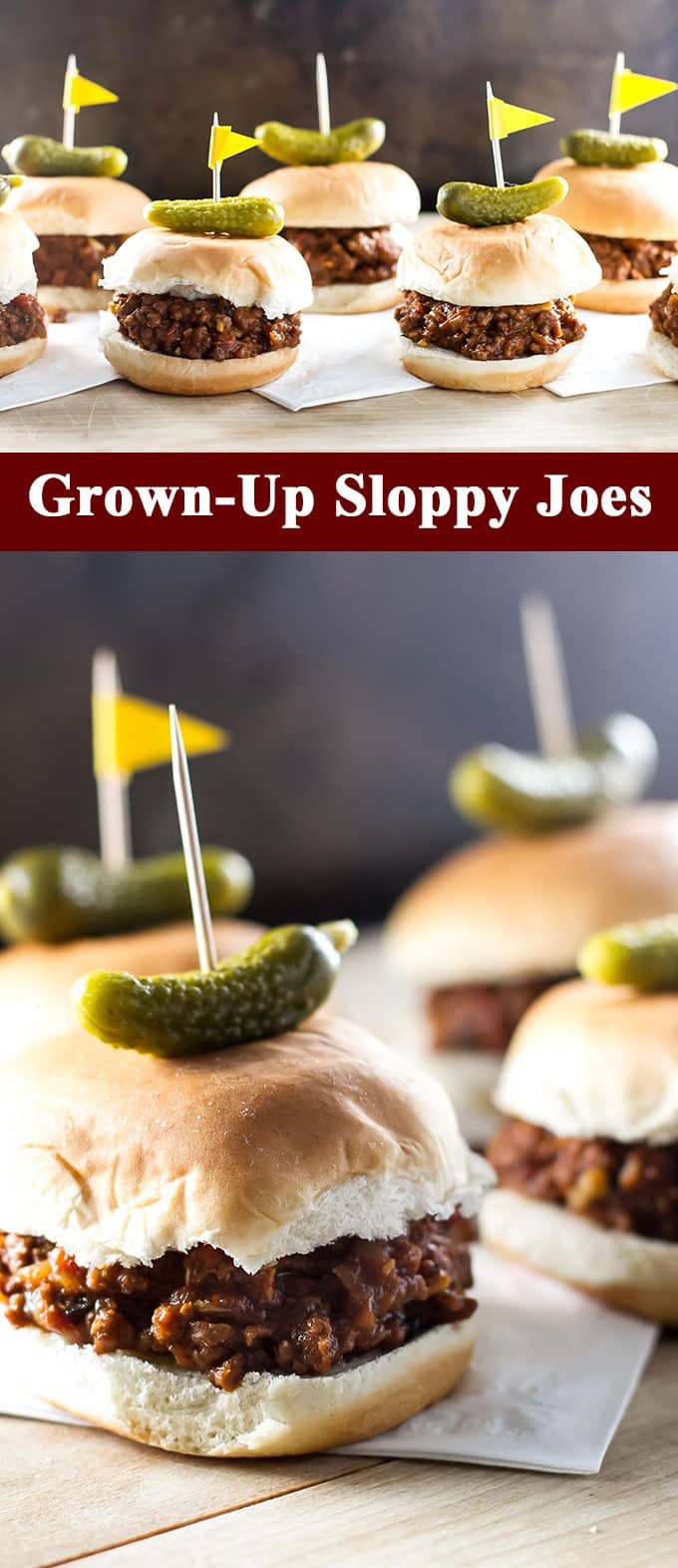 These are not your average sloppy joes! Try this grown-up version flavored with red wine and roasted vegetables | girlgonegourmet.com