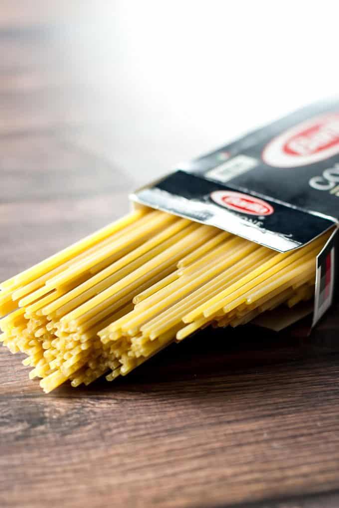 a box of spaghetti