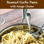 roasted garlic pasta photo collage