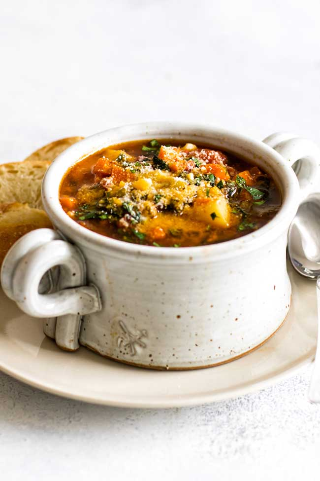 photo of a bowl of soup