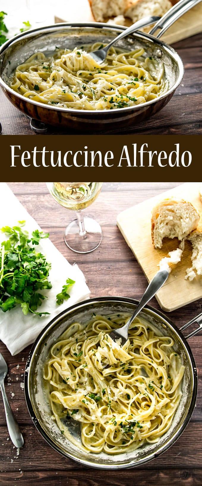 15-Minute Fettuccine Alfredo | girlgonegourmet.com