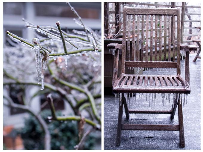 photo collage of a winter scene