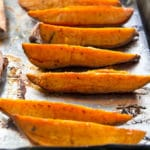 Roasted Sweet Potato Wedges | girlgonegourmet.com