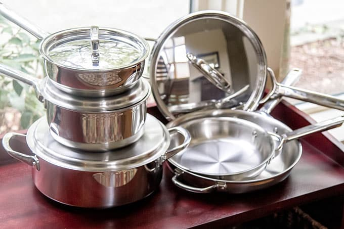 photo of the wolf gourmet pots and pan set