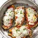 East Skillet Chicken Parmesan | girlgonegourmet.com