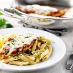 Easy Skillet Chicken Parmesan | girlgonegourmet.com