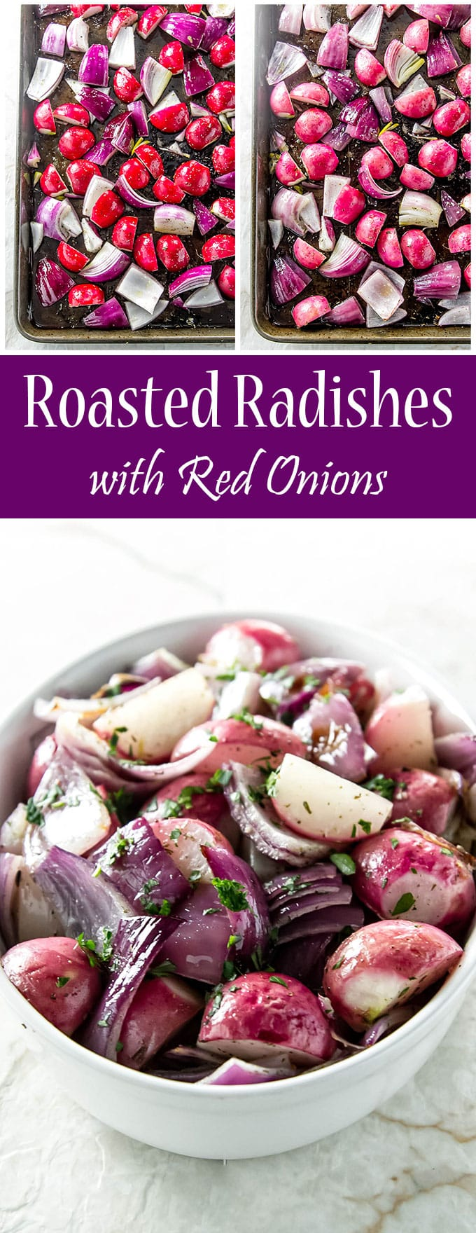 Roasted Radishes with Red Onions | Girl Gone Gourmet
