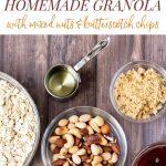 photo collage of granola