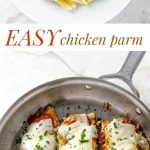 chicken parm photo collage