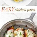 chicken parm photo collage