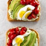 Loaded Avocado Ricotta Toast | girlgonegourmet.com