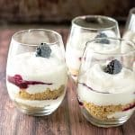 No Bake Cheesecake and Blackberry Parfaits | girlgonegourmet.com