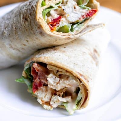 Sun-dried Tomato Chicken Salad Wraps