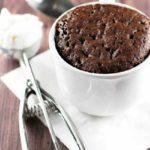 Molten Chocolate Mug Cake | girlgonegourmet.com
