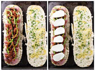 Loaded Pizza Sandwiches | girlgonegourmet.com