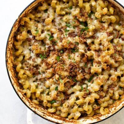 Mushroom Macaroni and Cheese