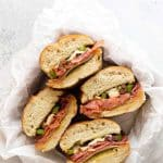 photo of four sandwiches