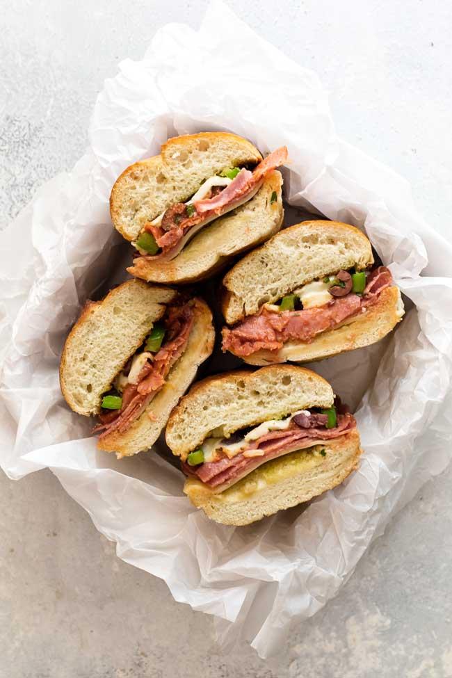 photo of pizza sandwiches