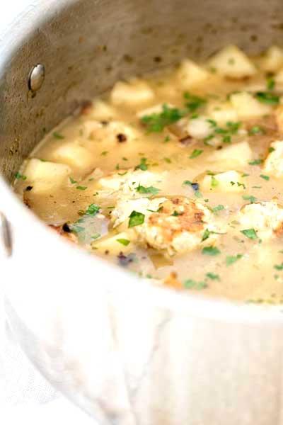 Chicken Meatball Soup   girlgonegourmet.com