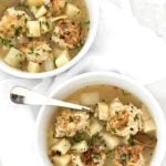Chicken Meatball Soup | girlgonegourmet.com