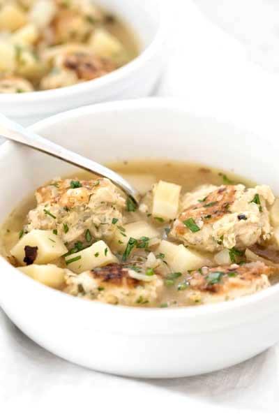 Chicken Meatball Soup | girlgonegourmet.com