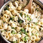 Creamy Chicken and Broccoli Pasta | girlgonegourmet.com