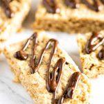 Peanut Butter Oatmeal Bars | girlgonegourmet.com