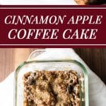 Cinnamon spiced apple coffee cake with a crunchy sweet brown sugar topping | girlgonegourmet.com