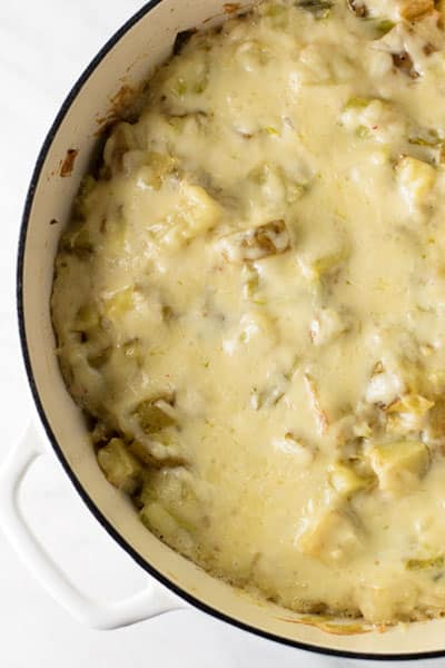 creamy potato casserole with leeks