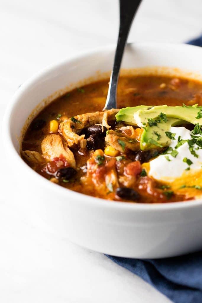 Chicken Tortilla Soup   girlgonegourmet.com