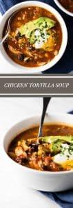 Chicken Tortilla Soup | girlgonegourmet.com