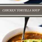 Chicken Tortilla Soup | girlgonegourmet.com