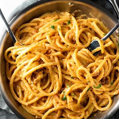 5-Ingredient Sun-Dried Tomato Alfredo