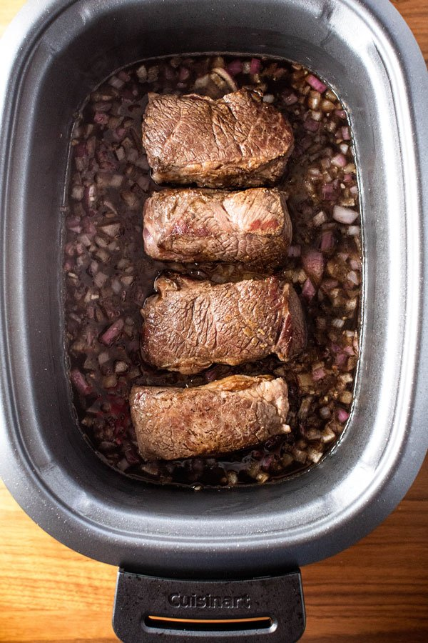 short ribs in a slow cooker