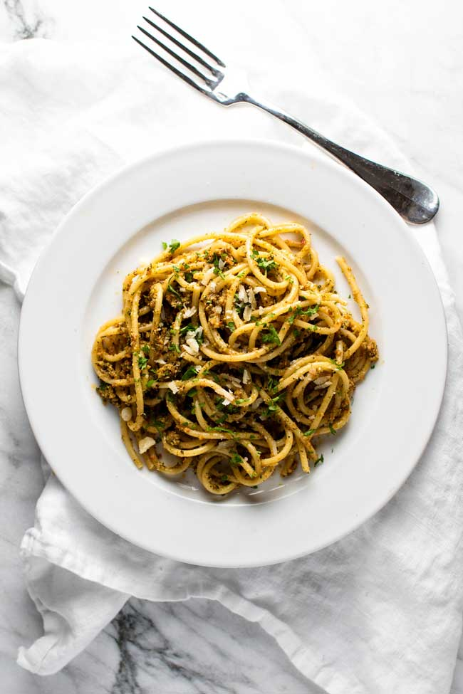 Roasted Broccoli Pasta with Sun Dried Tomatoes | girlgonegourmet.com