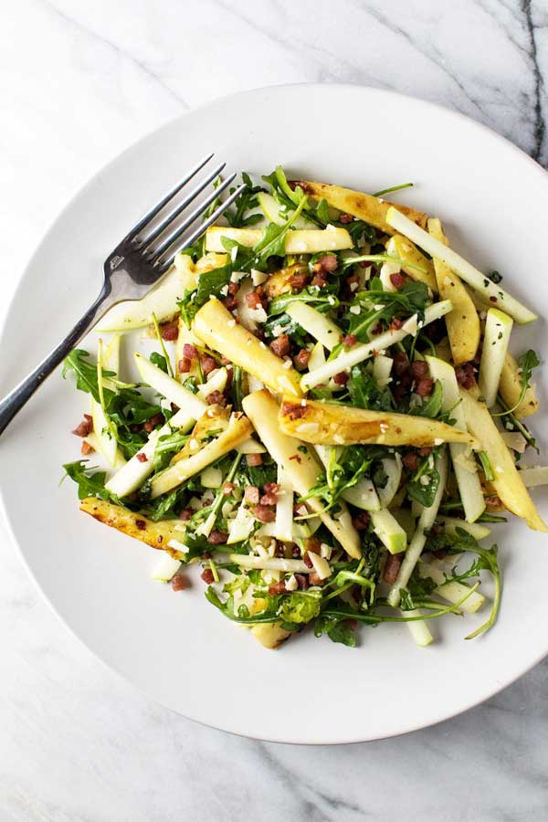 Roasted Parsnip Salad | girlgonegourmet.com