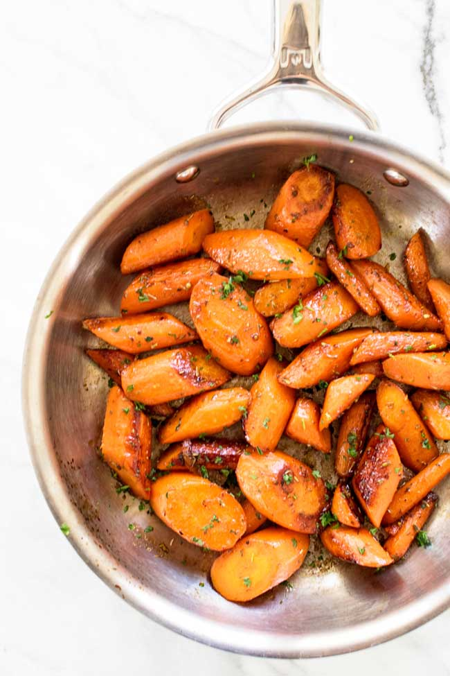 These lemon-honey glazed carrots are fast and easy. A great side dish!   girlgonegourmet.com