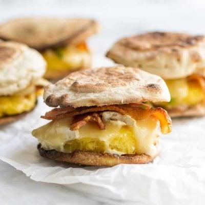 Bacon Brie Breakfast Sandwiches